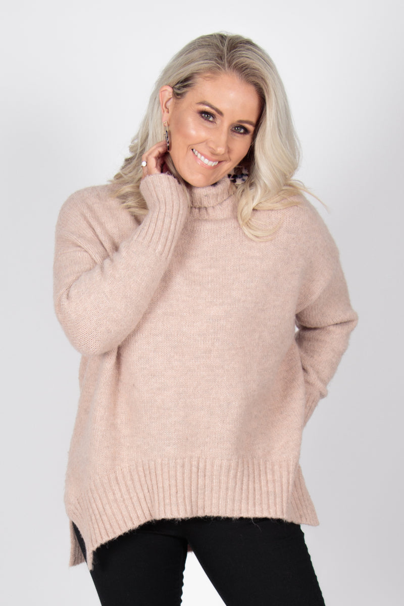 Marcello Knit Jumper in Blush