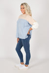 Nova Knit Jumper in Blue