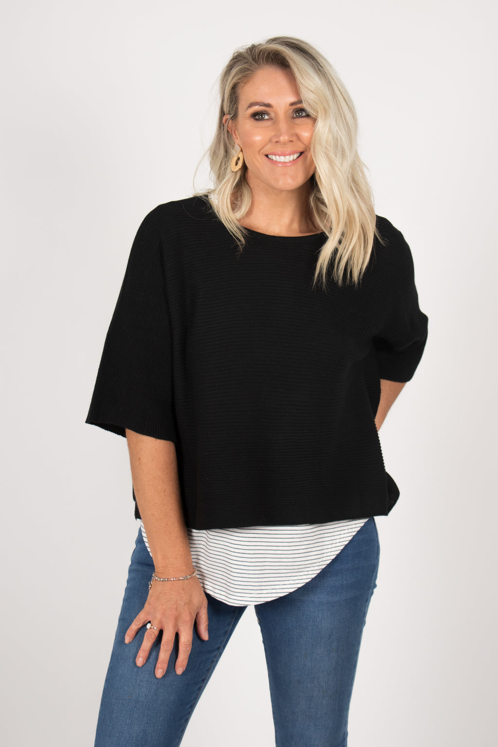 Emery Knit Top in Black