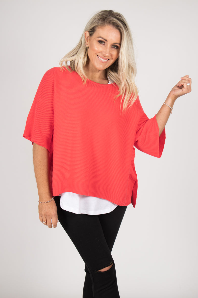 Emery Knit Top in Watermelon