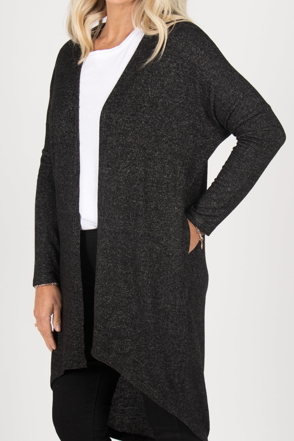 Harlow Cardigan in Charcoal