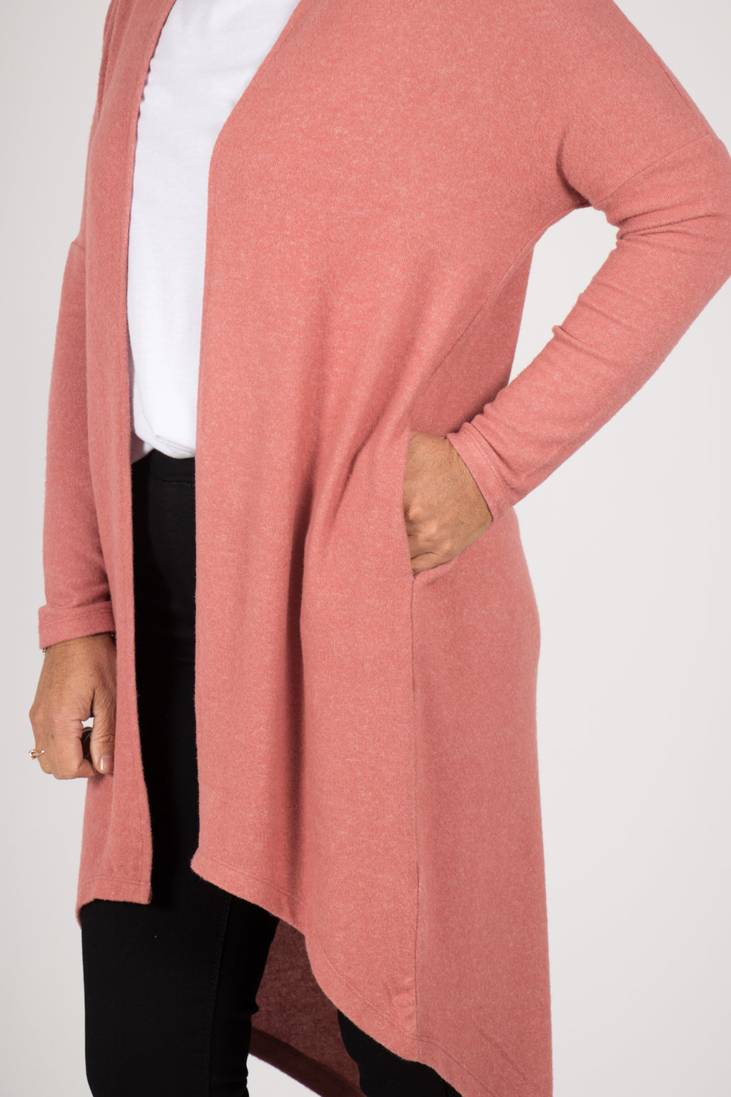 Harlow Cardigan in Dusty Rose