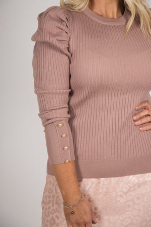 Society Knit Top in Fawn