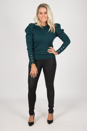 Society Knit Top in Emerald