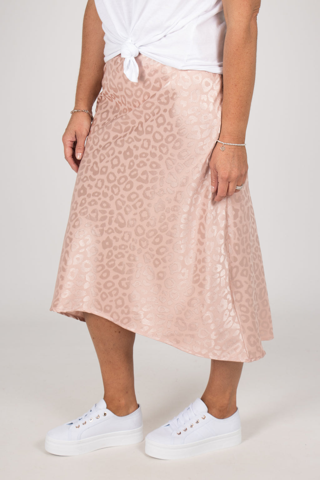 Rani Midi Skirt in Blush