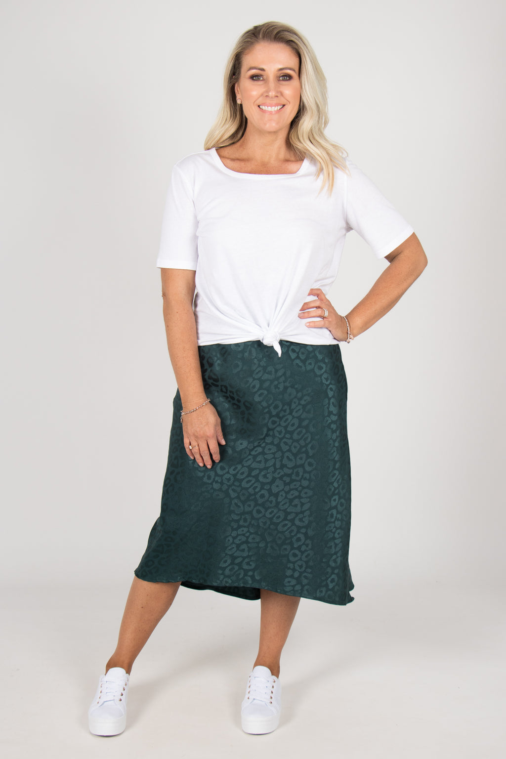 Rani Midi Skirt in Emerald