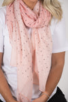 Kendall Scarf in Peach Blush