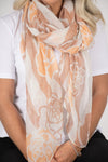 Roses Scarf in Caramel/Gold