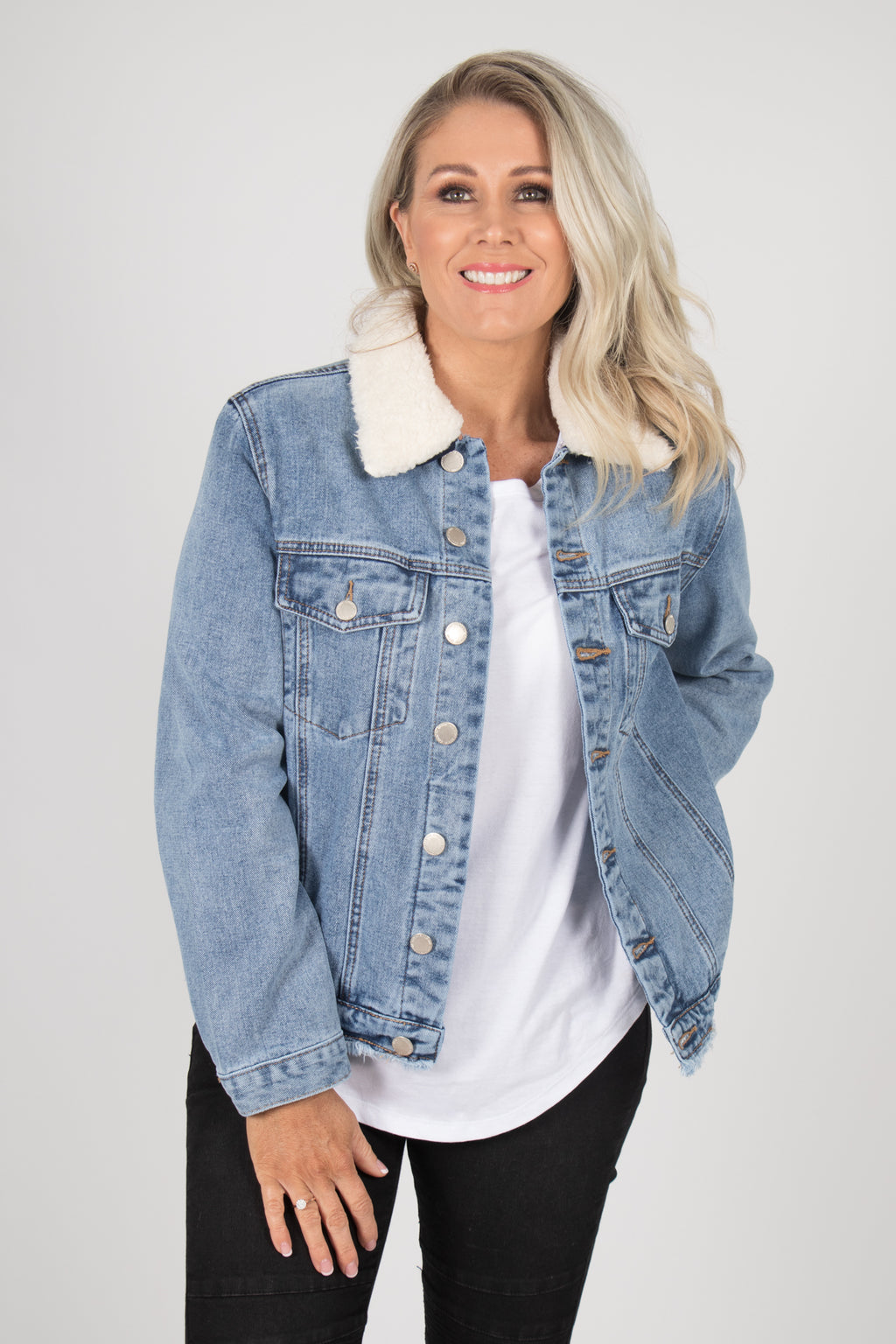 Zara Denim Jacket in Light