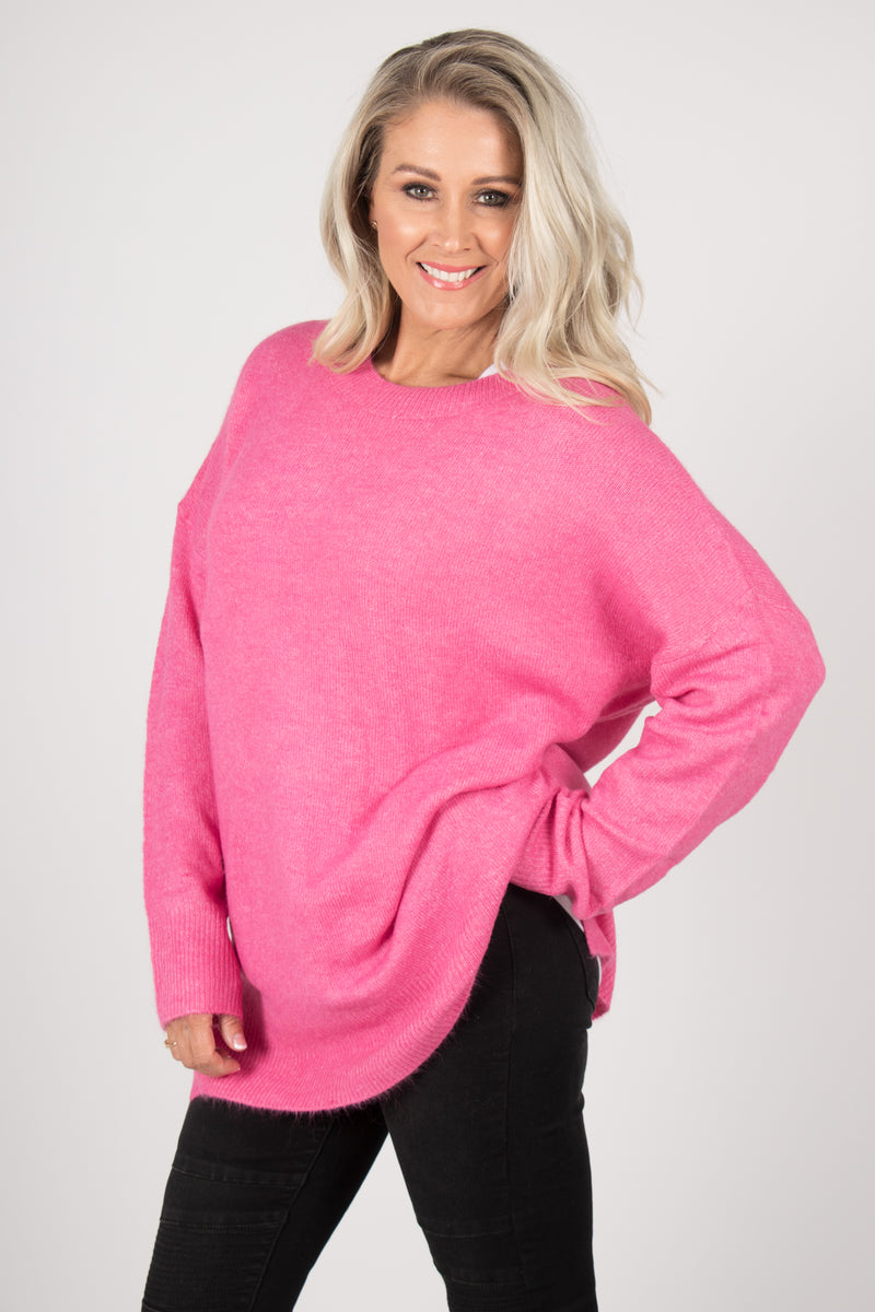 Barwon Slouch Knit in Hot Pink