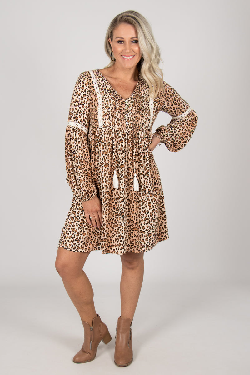 Carmody Dress in Leopard