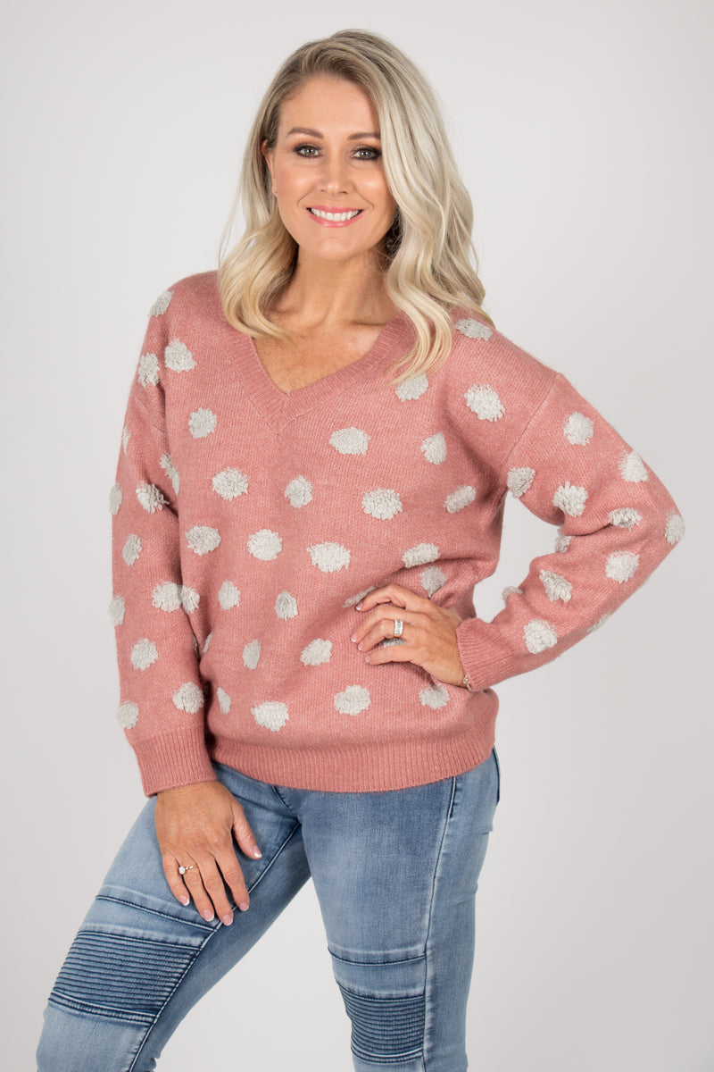 Gerri Jumper in Rose