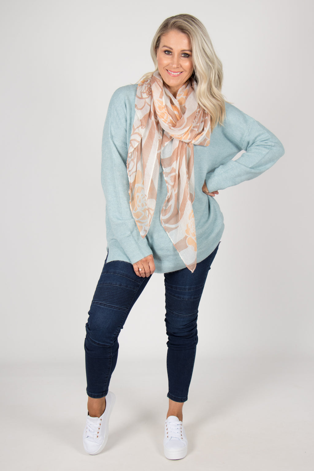 Barwon Slouch Knit in Water Blue