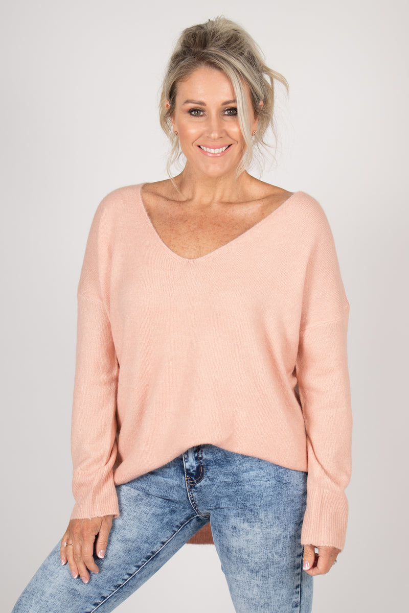 Arena Slouch Knit in Pink
