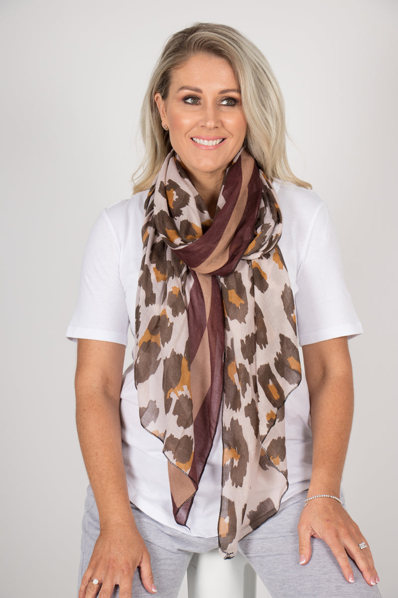 Zulu Scarf in Chocolate