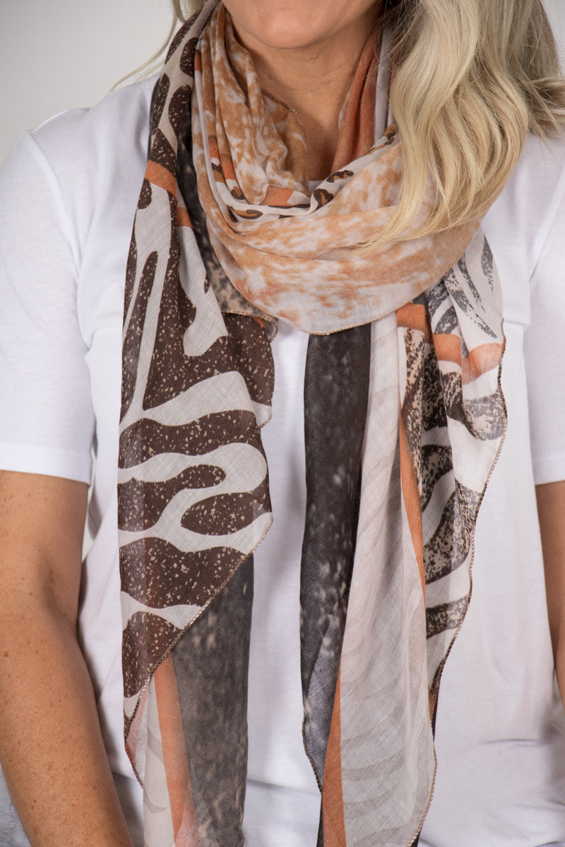 Instinct Scarf in Tan