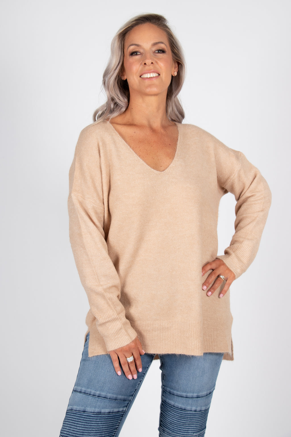 Arena Slouch Knit in Latte