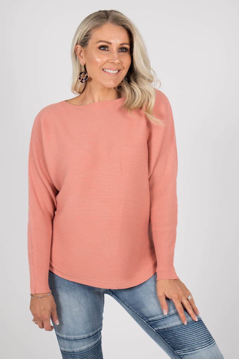 Tandora Knit Top in Peach