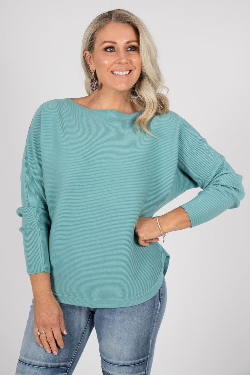 Tandora Knit Top in Teal
