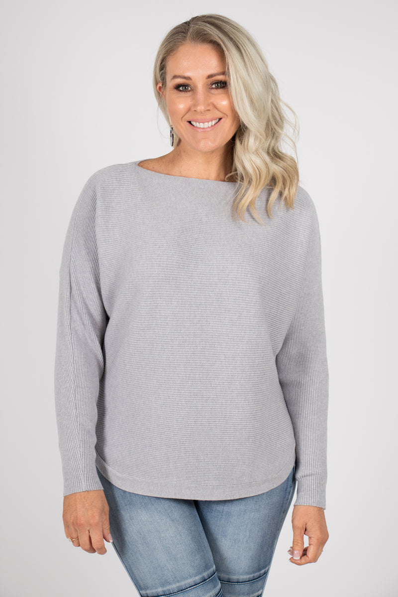 Tandora Knit Top in Grey