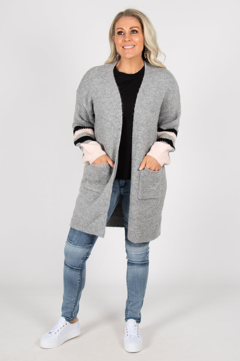 Millie Cardi in Grey