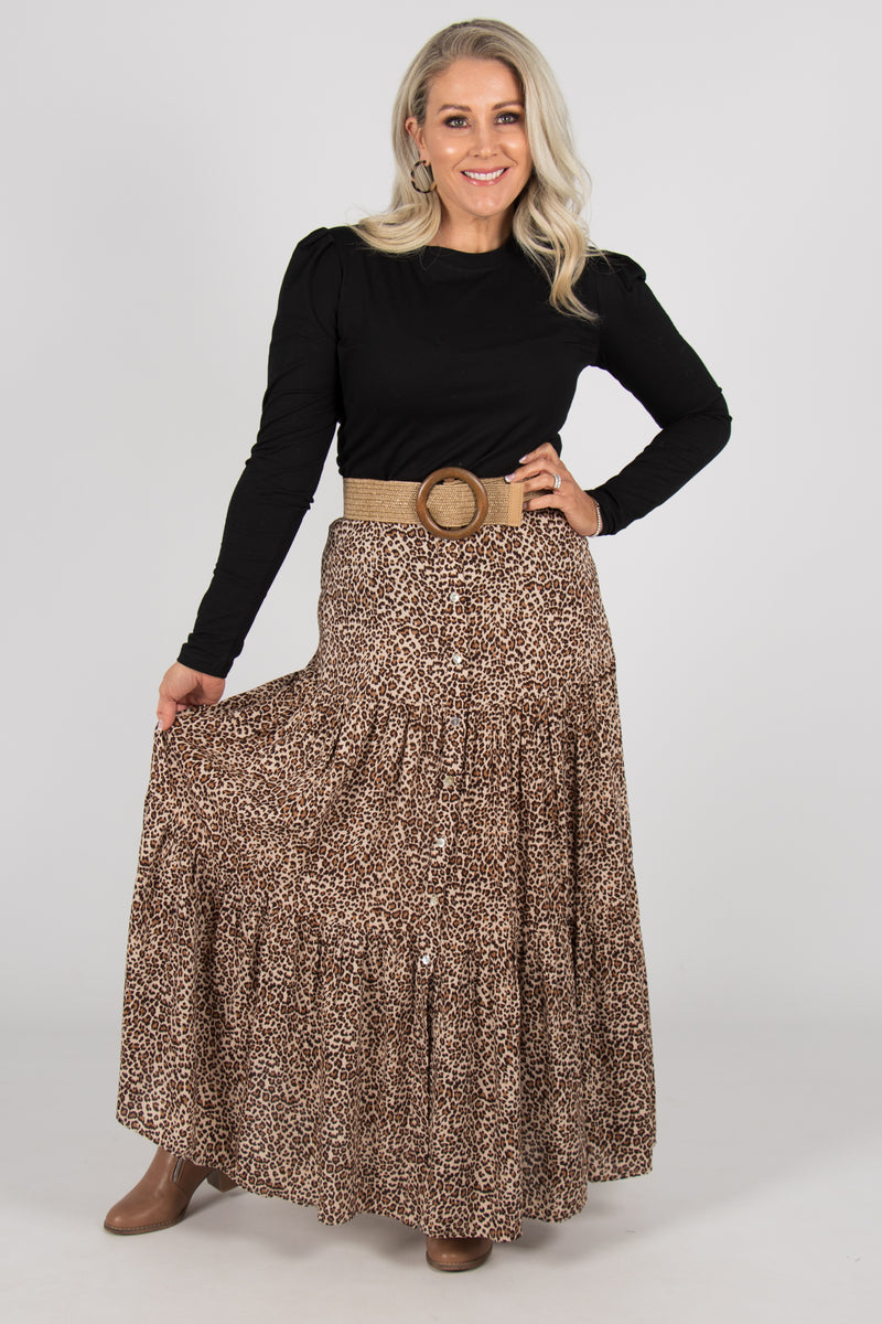 Eadie Skirt in Leopard