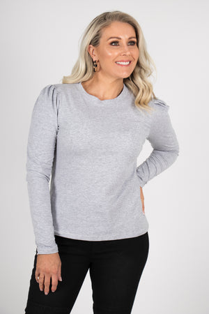 Loveday Top in Grey