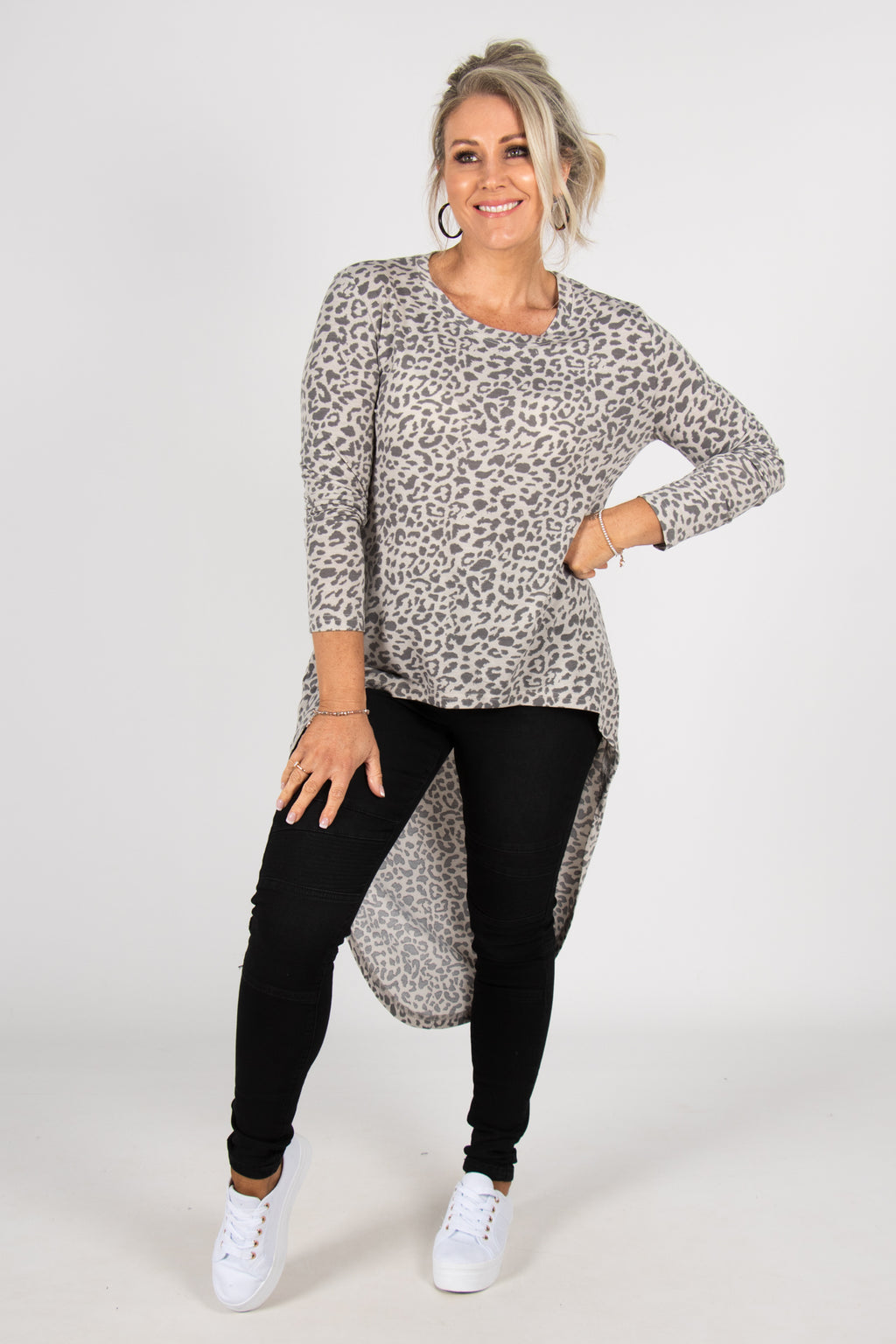 Cove Top in Grey Leopard