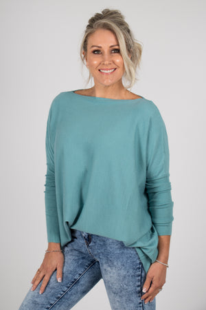 Kelso Knit Top in Teal