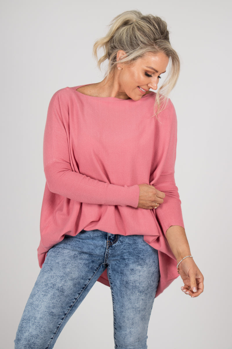 Kelso Knit Top in Rose