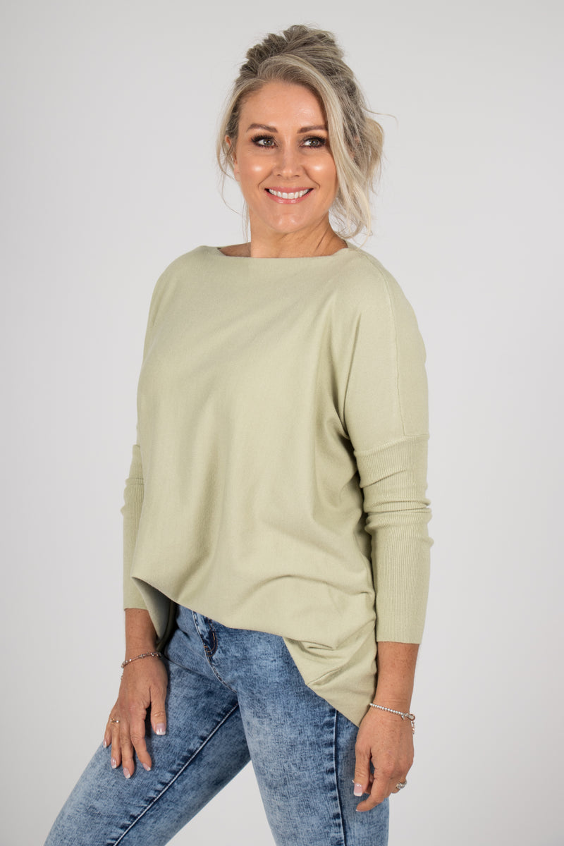 Kelso Knit Top in Avocado