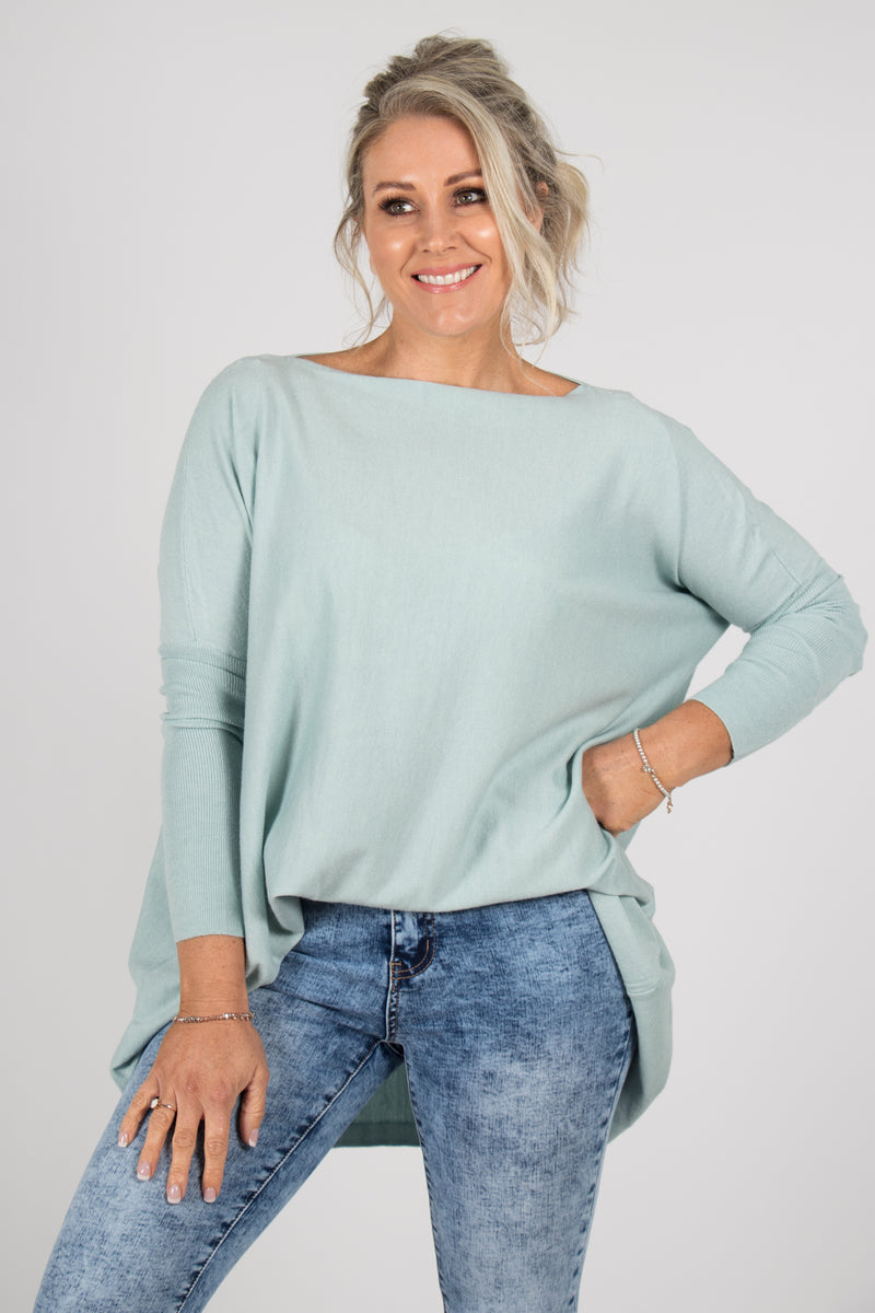 Kelso Knit Top in Mist