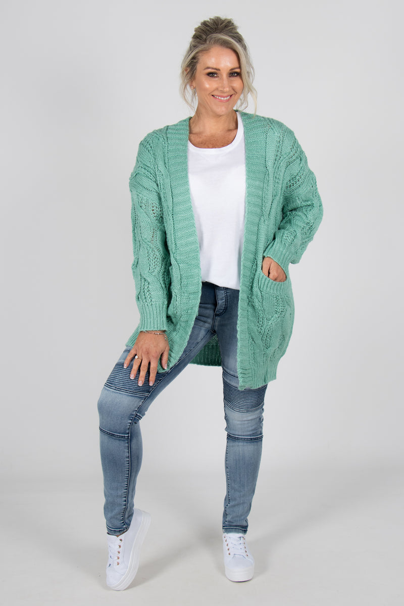 Cassandra Cardi in Sea Foam