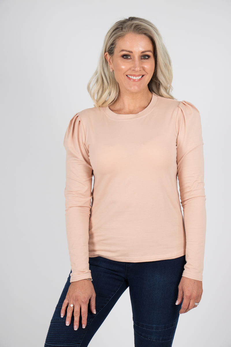 Loveday Top in Peach