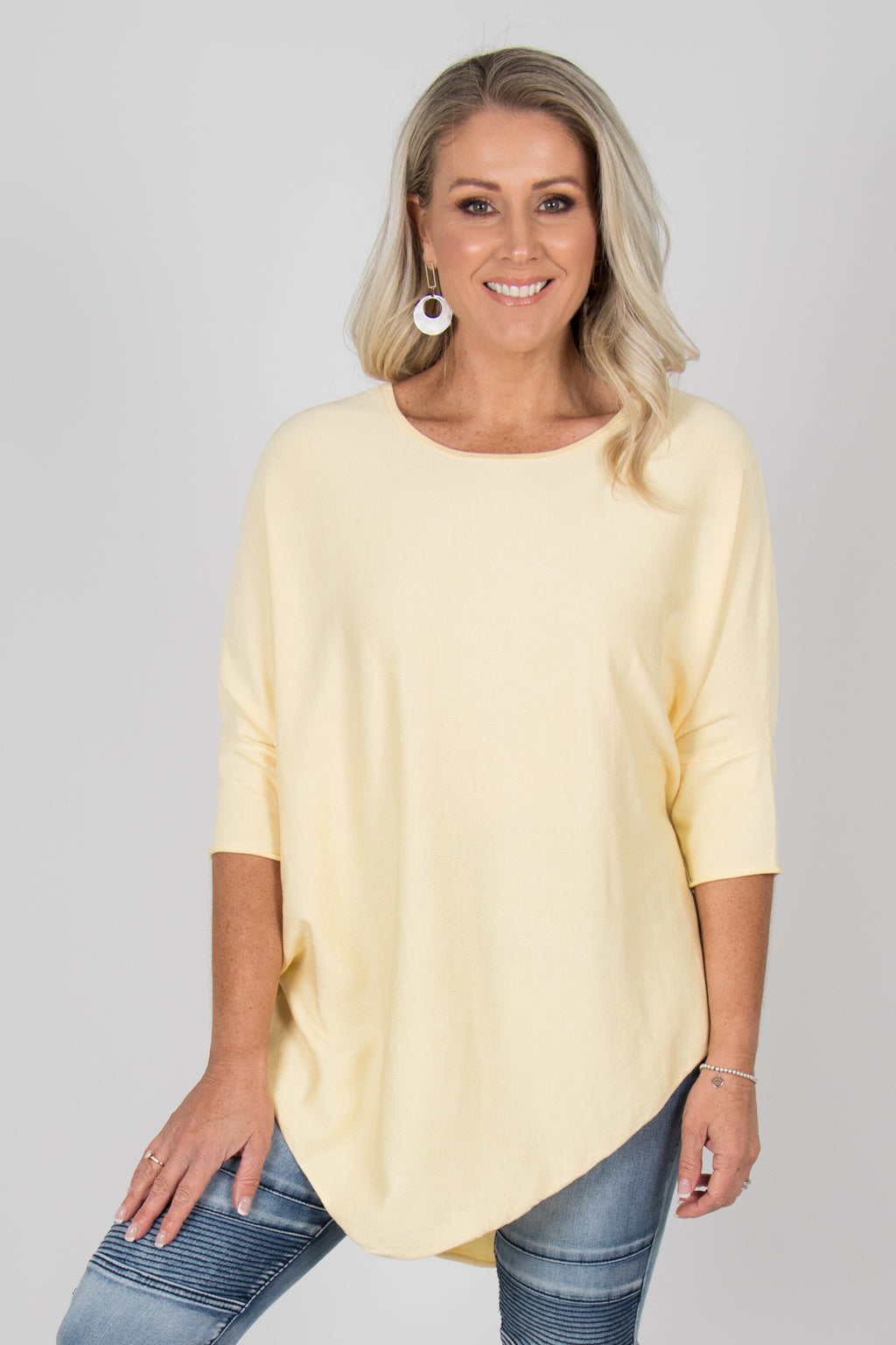 Charlie Knit Top in Lemon