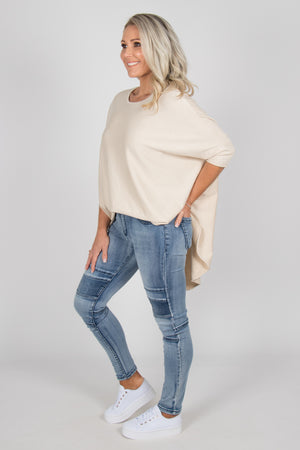 Charlie Knit Top in Beige