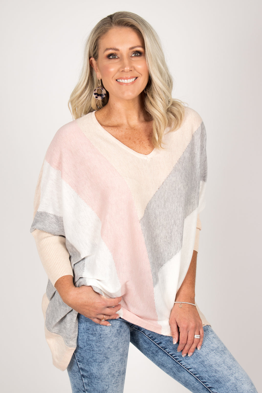 Miyal Top in Geo Pastels