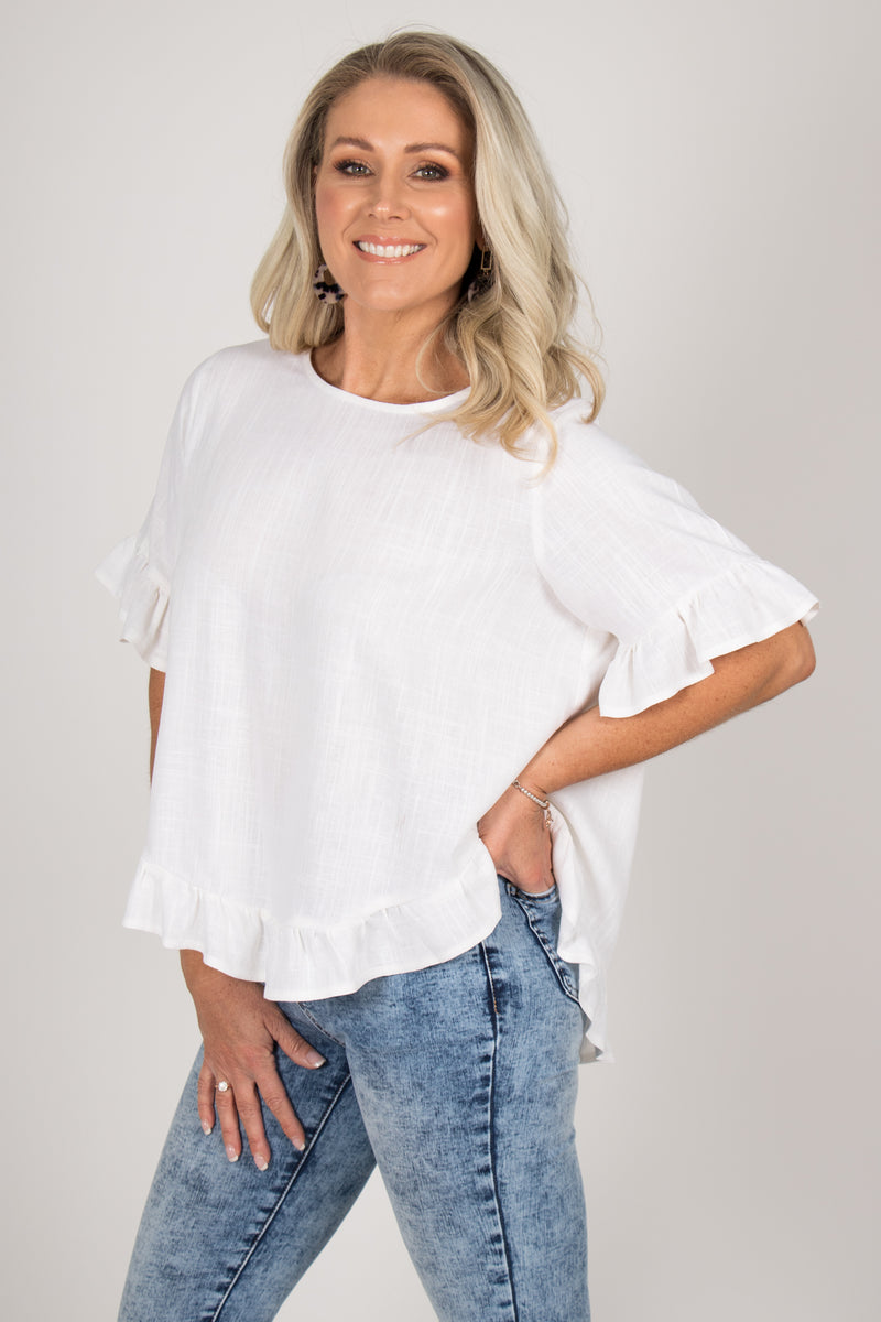 Ainslie Top in Ivory