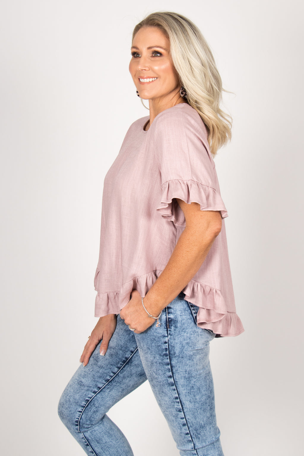 Ainslie Top in Antique Lavender