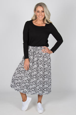 Landon Skirt in Ink Blot