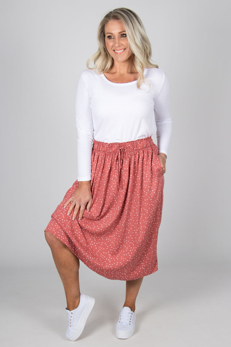 Landon Skirt in Ditsy Hearts