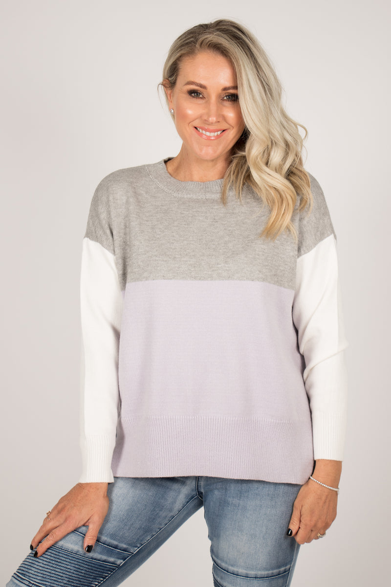 Alyssum Knit Jumper in Lilac