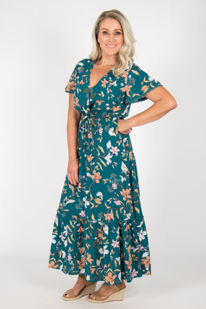 Clara Dress in Emerald