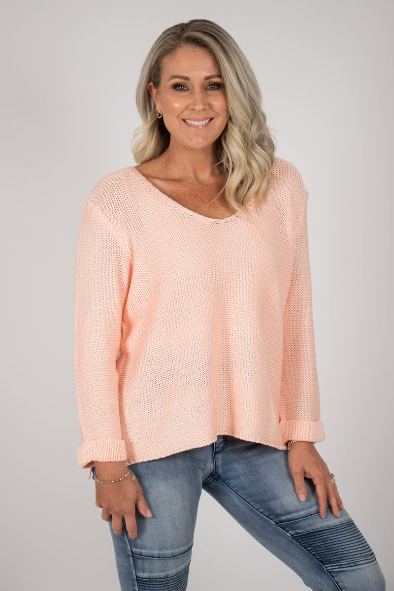 Elements Knit Jumper in Coral