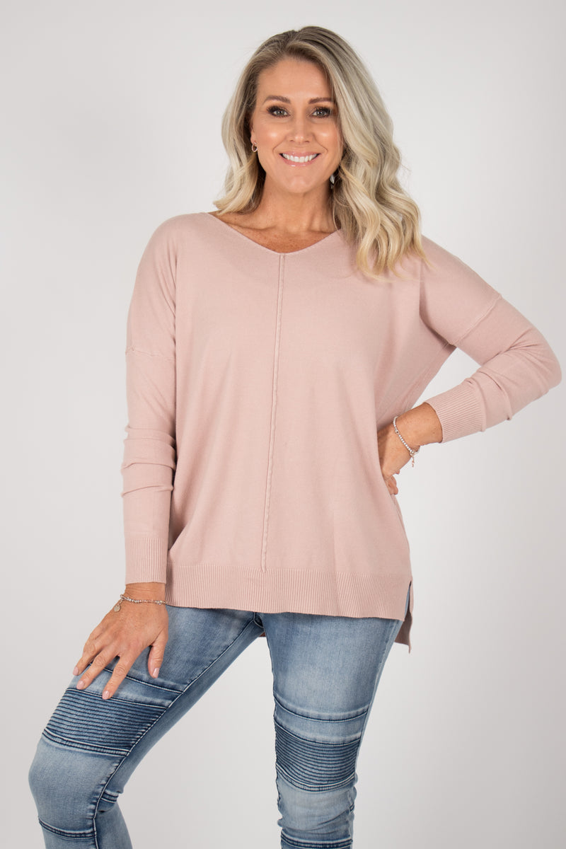Jordene Knit Top in Nude