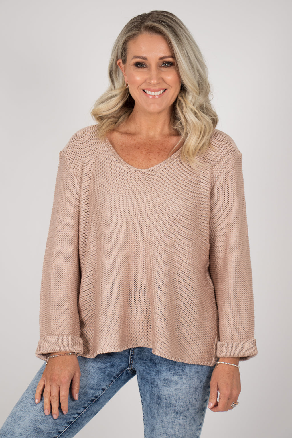 Elements Knit Jumper in Mocha