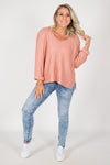 Elements Knit Jumper in Rose Blush
