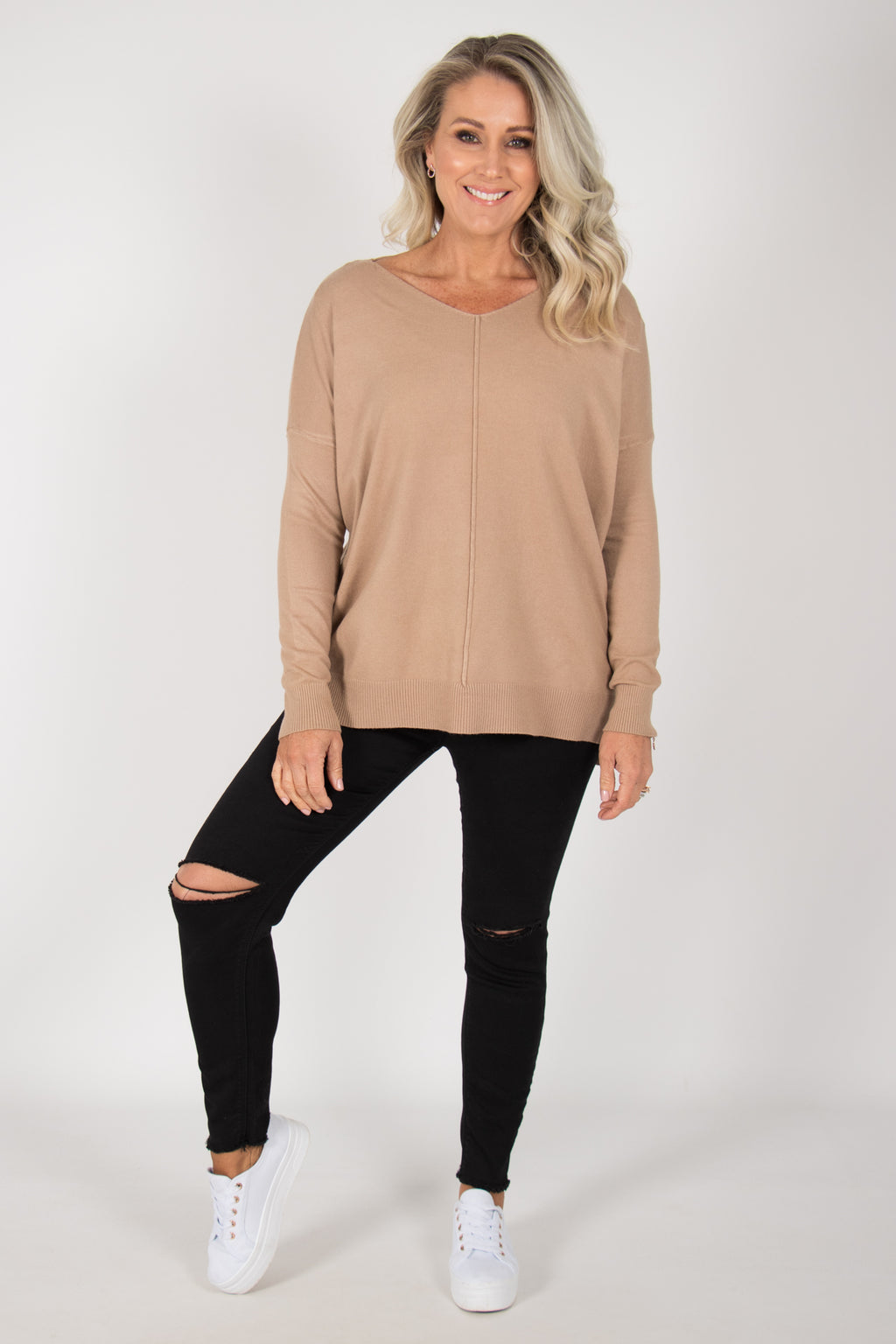 Jordene Knit Top in Mocha