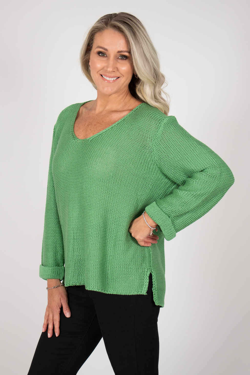 Elements Knit Jumper in Pine