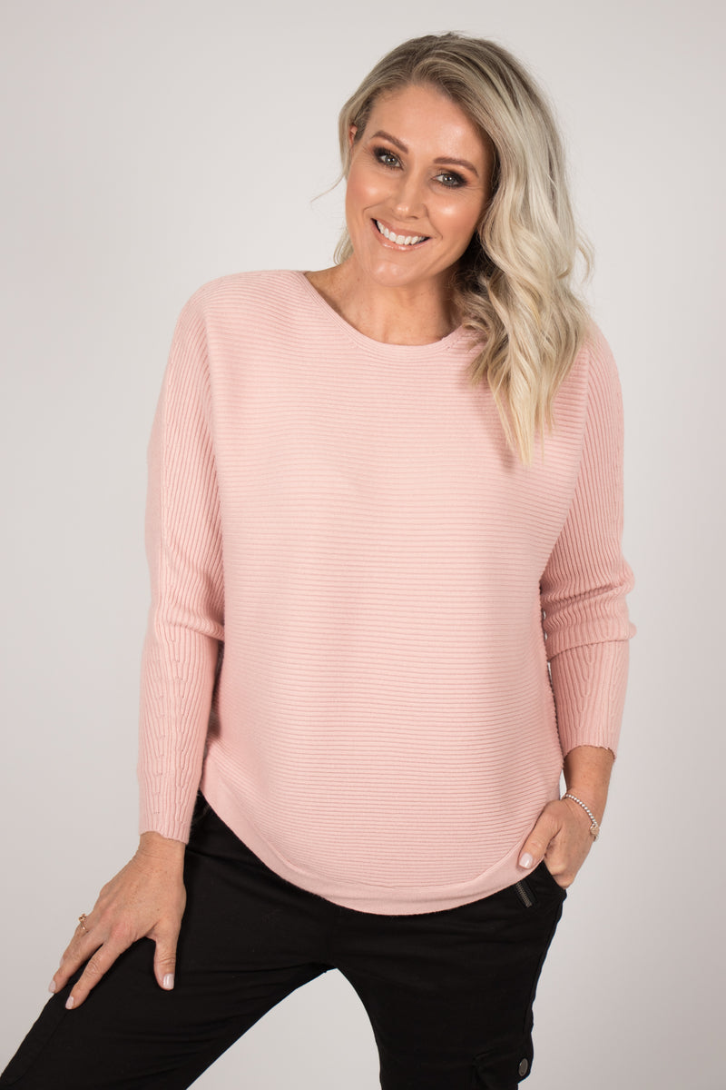 Melanie Knit Top in Blush
